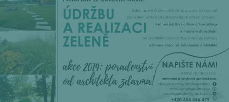Údržby soukromých zahrad – Akce Jaro 2019
